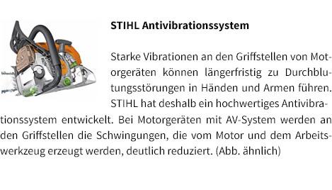 STIHL Antivibrationssystem STIHL Benzin-Motorsäge MS 231