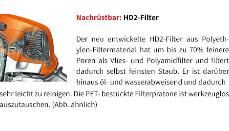 Nachrüstbar: HD2-Filter STIHL Benzin-Motorsäge MS 231