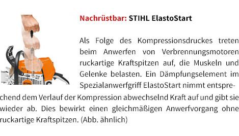 Nachrüstbar: STIHL ElastoStart STIHL Benzin-Motorsäge MS 231