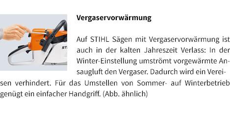 Vergaservorwärmung STIHL Benzin-Motorsäge MS 231