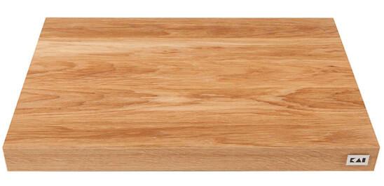 Ein Schneidbrett aus Eiche bietet Dir die optimale Unterlage für Dein Küchenmesser.