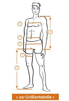 Größentabelle und Körpermaße