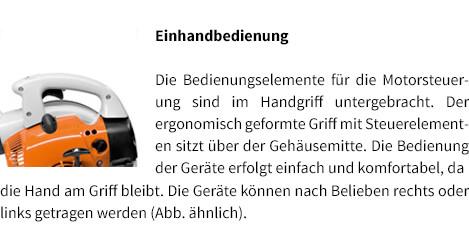 Einhandbedienung STIHL Benzin-Blasgerät BG 56
