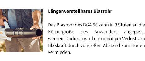 Längenverstellbares Blasrohr STIHL Akku-Laubblasgerät-BGA 56