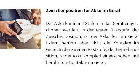 Zwischenposition für Akku im Gerät STIHL Akku-Laubblasgerät-BGA 56