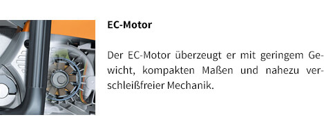 EC-Motor STIHL Akku-Motorsäge MSA 120 C-BQ
