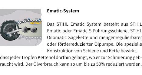 Ematic System STIHL Akku-Motorsäge MSA 120 C-BQ