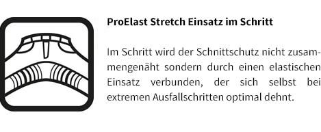 Stihl Bundhose ADVANCE X-FLEX  ProElast Stretch Einsatz im Schritt