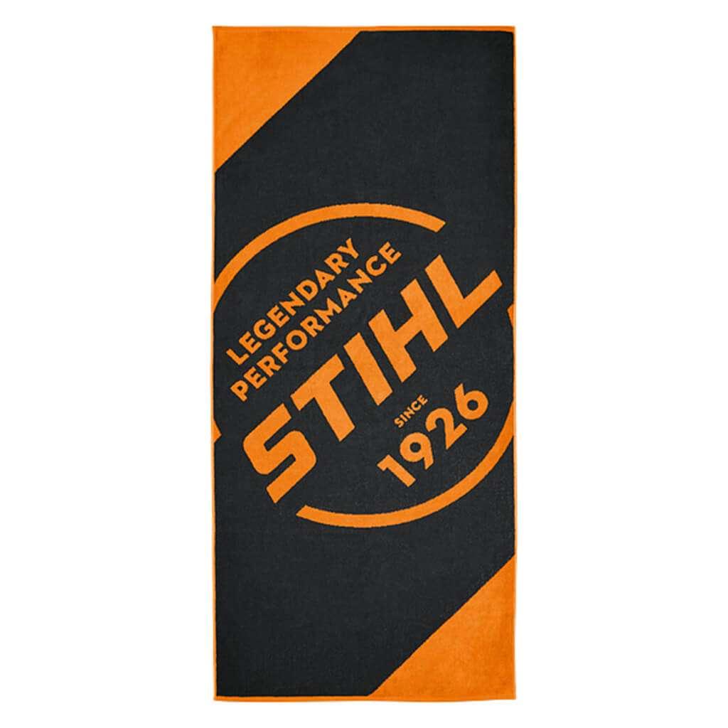 Stihl Erwachsene Strandtuch Strand schwarz-Orange Und Saunatuch 80x180