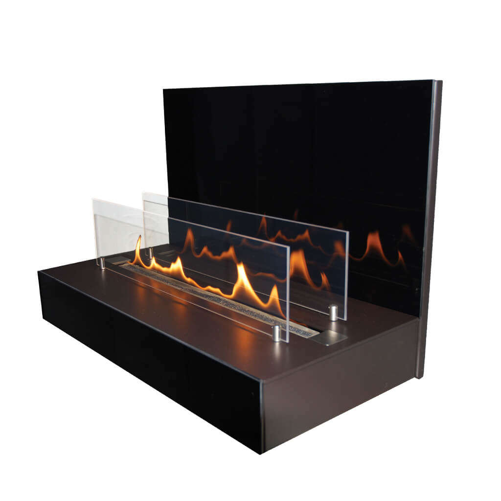 Bio-Ethanolkamin ebios-fire Quadra Wall by Spartherm